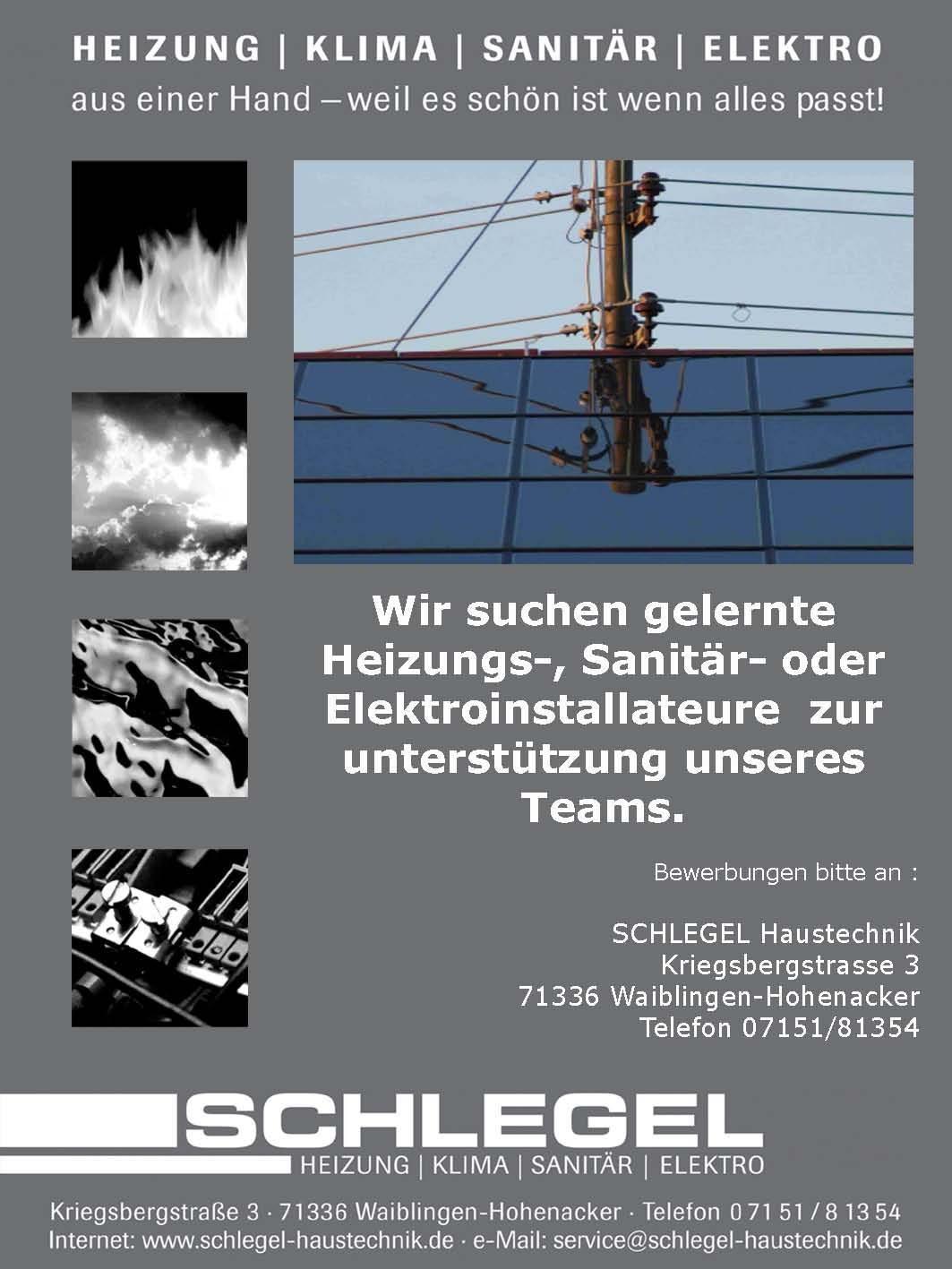 Elektriker Waiblingen schlegel heizung klima sanitär elektro waiblingen hohenacker